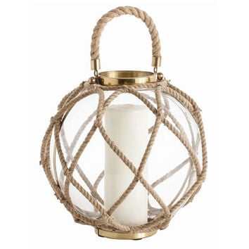 Arteriors Home 6988 Cormac Large Glass and Jute Rope Lantern