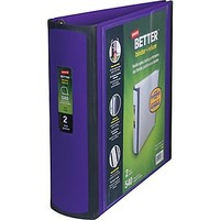 Staples Better 2-Inch D 3-Ring View Binder, Purple (20247) | Staples