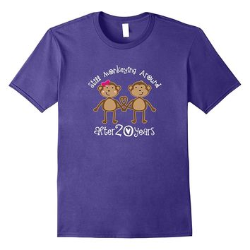 20th Anniversary Funny Monkey Couples T-shirt