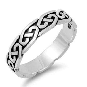 925 Sterling Silver Wiccan Weave Eternity Ring 5MM