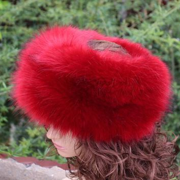new fashion faux fur huff multicolor sleek warm soft top quality fake fur hat winter women fluffy head decoration fashion
