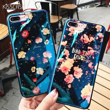 KISSCASE Soft TPU Case For iPhone 6 6s 7 8 Plus Cute Blue Light Silicon Back Cover Ultra Thin Blue Ray Case For iPhone 5 5s SE