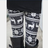 Women's Stretch Print Leggings [8096857799]