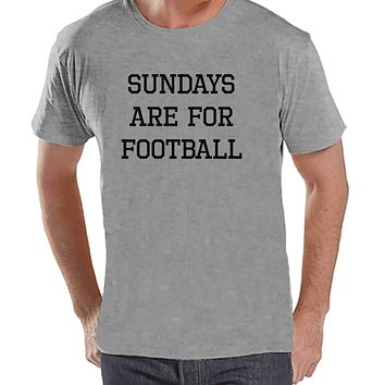 Men's Football Shirt - Sundays Are For Football - Mens Football Shirts - Grey Shirt - Gift for Him - Gift Idea for Boyfriend or Dad