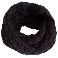 Amazon.com: Frost Hats Winter Infinity Scarf for Women IS-1 BLACK Knitted Loop Scarf Frost Hats: Clothing