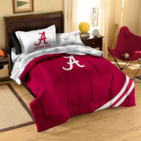 Alabama Crimson Tide NCAA Bed in a Bag (Contrast Series)(Twin)