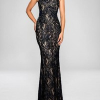 Cachet Long Formal Lace Dress Evening Gown