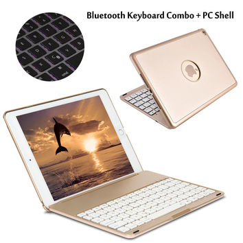 For iPad Pro 9.7 7 Colors Backlit Light Wireless Bluetooth Keyboard Case Cover For iPad Air / Air 2 For iPad 5/ iPad 6 + Gift