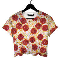 Pizza Crop Tee - READY TO SHIP