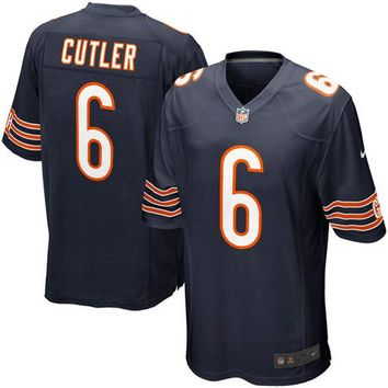 Mens Chicago Bears Jay Cutler Nike Navy Blue Game Jersey