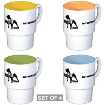 Cuse PIT Crew Apparel Stackable Mug Set (4 mugs)> Cuse Pit Crew