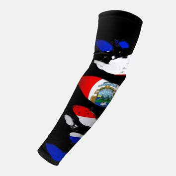 Costa Rican Flag Ripped Arm Sleeve