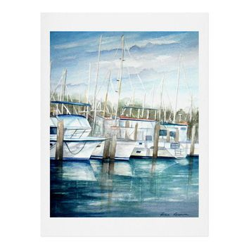 Rosie Brown Dinner Key Marina Art Print