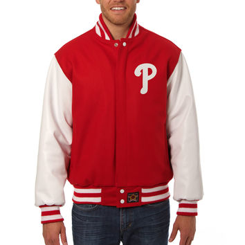 Philadelphia Phillies Wool And Leather Varsity Jacket