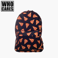 Black pizza  backpack