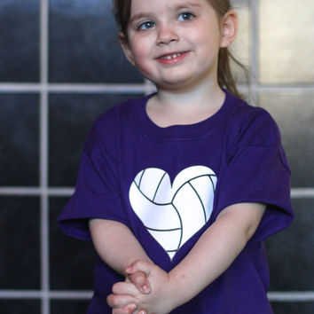 I Heart Volleyball Tshirt, Size Youth Small, Accepting Custom Orders Colors and States or Designs