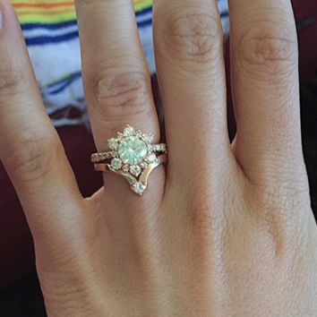 Diamond Chevron Wedding Band (Engagement Ring Not Included)
