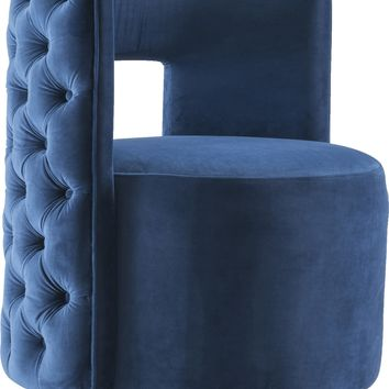 Theo Navy Velvet Accent Chair