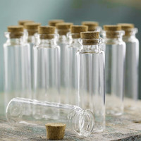 Mini Corked Jar Tube Bottle Favor Souvenir, 12-pack
