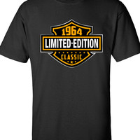 50th Birthday Shirt 1964 Limited Edition Classic B-day T Shirt Cool hipster swag mens womens ladies TShirt T-Shirt T Shirt Tee  - DT-604