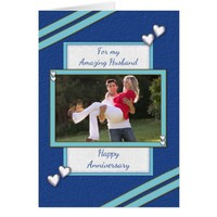 Photo Anniversary card for Husband