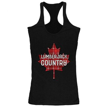 Canada Day Lumberjack Country Plaid Juniors Soft Tank Top