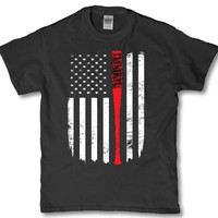 Negan Lucille American flag - Half this country belongs to me adult unisex