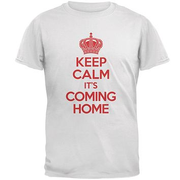 World Cup England Keep Calm it's Coming Home Mens T Shirt