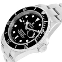 Rolex Submariner Date 40mm Black Dial Steel Mens Watch 16610