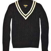 Rugby by Ralph Lauren Men Knit Cable V-Neck Sweater