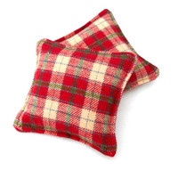Red, Green and Cream Plaid Hand Warmers - Red Green Cream Moss Green Hunter Men Plaid Reusable Rice Hand Warmers