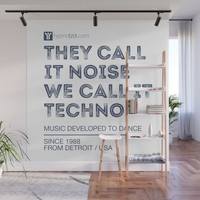 They call it noise, we call it Techno Wall Mural by paulosilveira