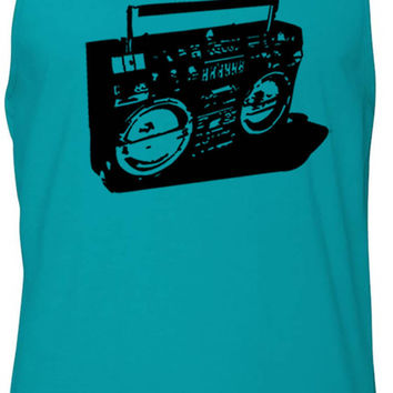 Ghetto Blaster (Black) Tank-Top T-Shirt