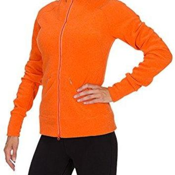 Westcomb Womens Fall Salish Warm Winter Fleece Sweater Coat Jacket Tangerine