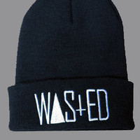 WASTED Beanie in Black