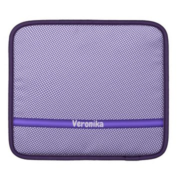 Violet small plaid pattern. Add name. Sleeve For iPads