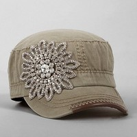 Olive & Pique Embellished Military Hat
