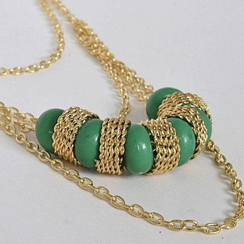 Multi Link Chain Necklace with Beads