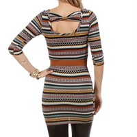 Multi Printed 3/4 Sleeve Tunic