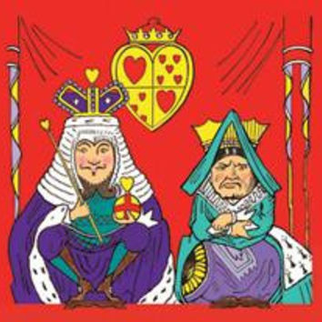 Alice in Wonderland: The King and Queen of Hearts: Fine art canvas print (12 x 18)
