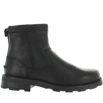 CREYONIG Florsheim Trektion - Black Leather Lug Boot