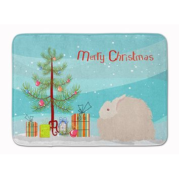 Fluffy Angora Rabbit Christmas Machine Washable Memory Foam Mat BB9326RUG