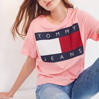 PEAPON Tommy Jeans Women Tee Shirt T-Shirt Top Blouse