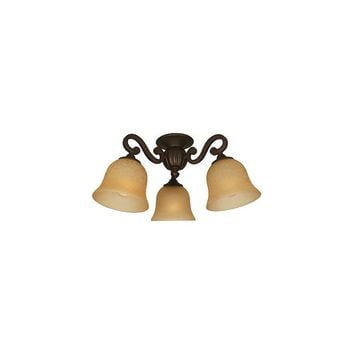 Craftmade Arm La Tour Three Light Branched Ceiling Fan Light Kit