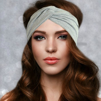 Gray Classic Chic Turban Headband {Wanderlust Collection}