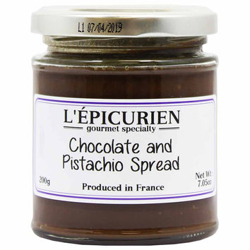 Epicurien Chocolate and Pistachio Spread 7 oz