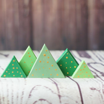 Tiny Christmas Tree Set of 5