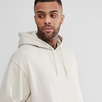 ASOS Oversized Hoodie In Beige at asos.com