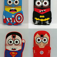3D Minion Batman Soft Silicone Case Cover For Samsung Galaxy S3, S4, S5