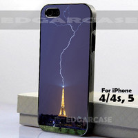 Eiffel Tower - Hard Cover - For iPhone 4 / 4S , iPhone 5 - Black / White Case